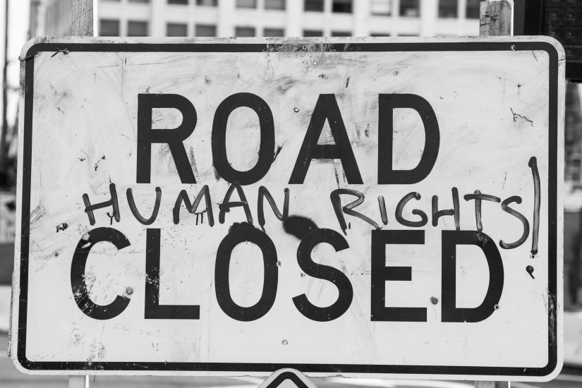 road-closed-human-rights-black-white