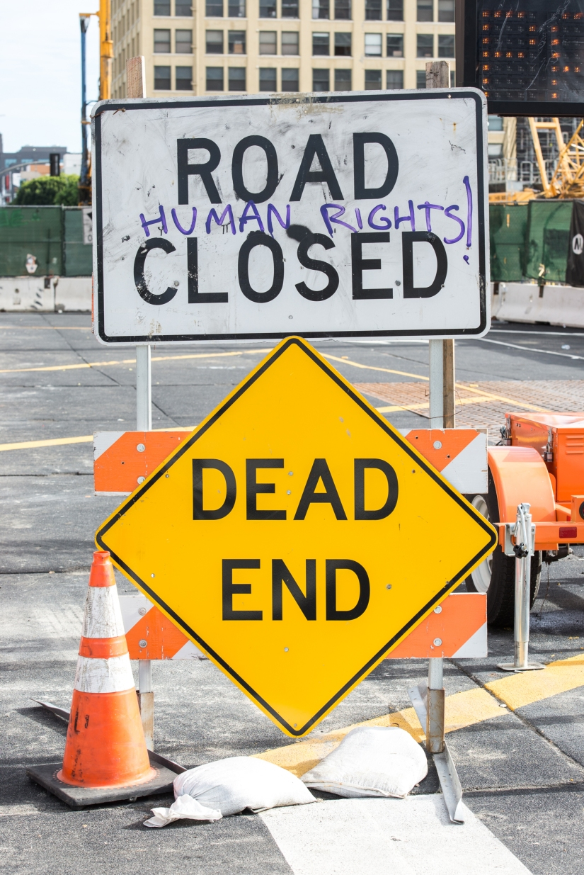 road-closed-human-rights-Dead-End-color