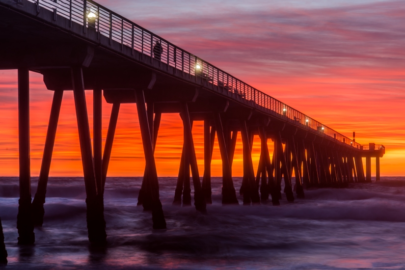 hermosa-beach-pier-sunset-pink-purple-orange-sky