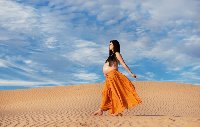 maternity-topless-body-chain-sand-dunes